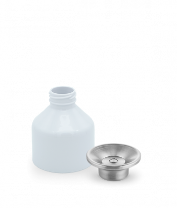 White cup and steel cap for Dopper Steel 800ml